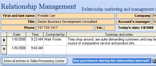 Sales Crm Example Projectdeveloper Com It Project